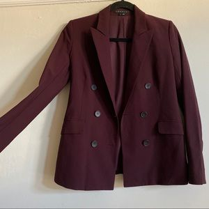 Theory Wool Burgundy Blazer!